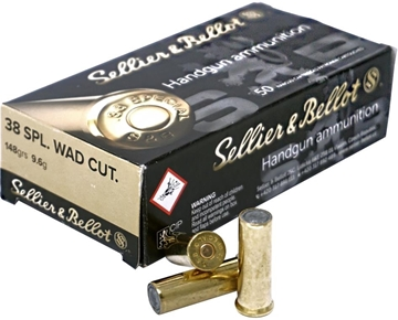 Picture of Sellier & Bellot Pistol & Revolver Ammo - 38 Special, 148Gr, Wad Cutter, 50rds Box