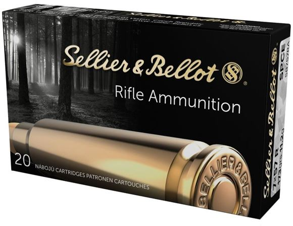 Picture of Sellier & Bellot Rifle Ammo - 7x57R, 173Gr, SPCE, 20rds Box