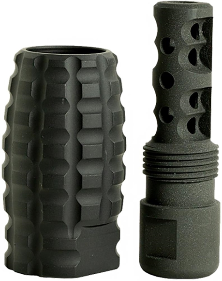 Picture of Timber Creek Outdoors AR15 Parts - 223 Muzzle Break Combo w/ Blast Can, 223, 1/2-28, Black