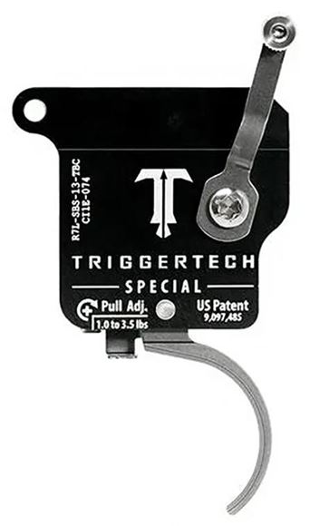 Picture of Trigger Tech, Remington 700 Trigger - Special Frictionless Trigger, Curved, Single Stage, 1-3.5 lbs, Stainless, Left Handed