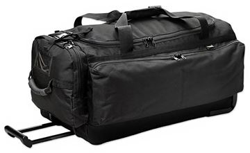 Picture of Uncle Mikes - Side-Armor Roll Out Bag, Durable Wheels, 1000D Fabric, Black