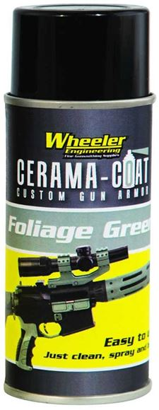 Picture of Wheeler Engineering Gunsmithing Supplies, Paint, Coatings - Cerama-Coat Custom Gun Armor, Foliage Green, 4 oz. Spray Can