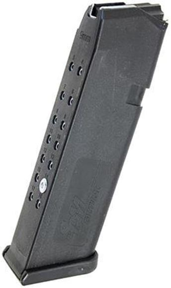 Picture of SGM Tactical Pistol Magazine - 9mm, 17rds Pinned to 10rds, Black, For Glock 17/34/19x