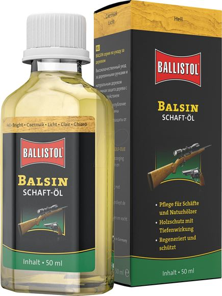 Picture of Ballistol, Gun Care - Balsin Gun Stock Oil 50mL Glass Jar