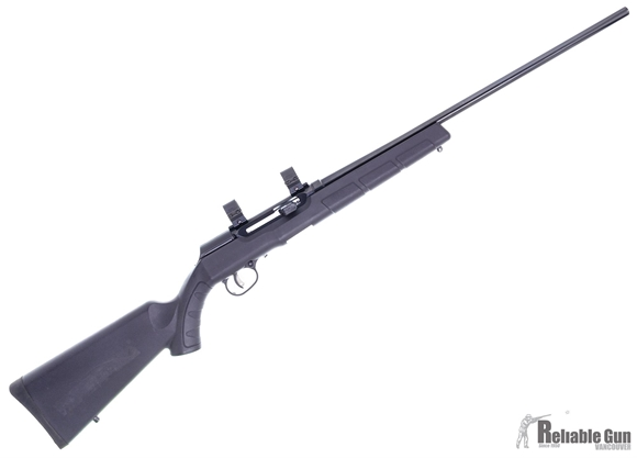 Picture of Used Savage Arms A22 Rimfire Semi-Auto Rifle - 22 WMR, 22'' Barrel, Blued, Synthetic Stock, 10rds Detachable Rotary Mag + 25rds Butler Creek Detachable Mag, Weaver 1'' Rings, Very Good Condition