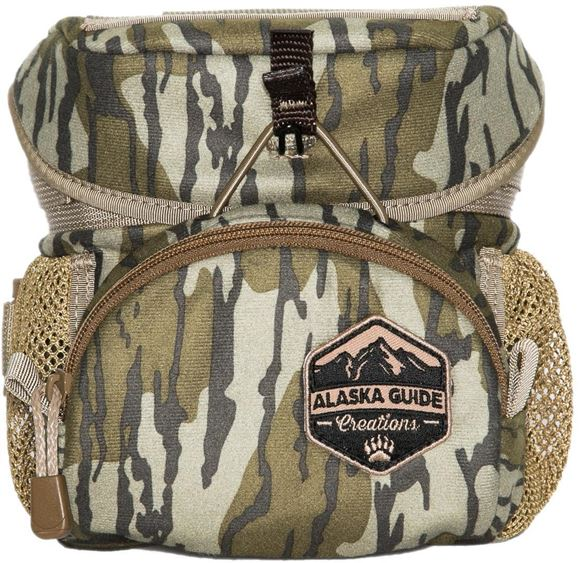 Picture of Alaska Guide Creations Binocular Harness Packs - Hybrid Bino Pack, Mossy Oak Bottom Lands Camo, Fits Up To 10x42 Binoculars, & Medium Sized Rangefinders