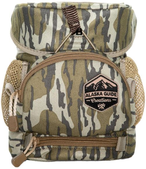 Picture of Alaska Guide Creations Binocular Harness Packs - Hybrid With MAX Pocket Bino Pack, Mossy Oak Bottom Lands Camo, Fits Up To 10x42 Binoculars, & Medium Sized Rangefinders