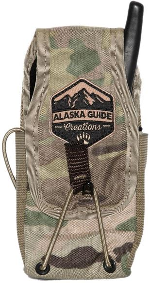 """Picture of Alaska Guide Creations Bino Pack Accessories - In Line Accessory Pouch, Multi-Cam Camo, 3"""" (Width) x 4-7.5"""" (Adjustable Height) x 2.5"""" (Depth)"""