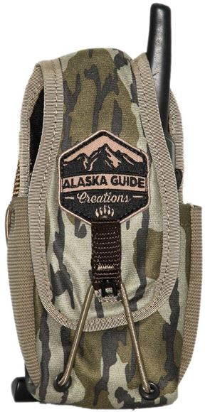 """Picture of Alaska Guide Creations Bino Pack Accessories - In Line Accessory Pouch, Mossy Oak Bottom Lands Camo, 3"""" (Width) x 4-7.5"""" (Adjustable Height) x 2.5"""" (Depth)"""