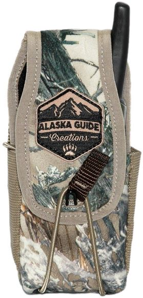"""Picture of Alaska Guide Creations Bino Pack Accessories - In Line Accessory Pouch, True Timber Camo, 3"""" (Width) x 4-7.5"""" (Adjustable Height) x 2.5"""" (Depth)"""