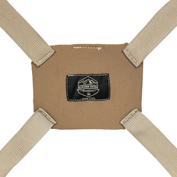 "Picture of Alaska Guide Creations Binocular Harness Pack Accessories - Coyote Brown Ultra-Lightweight Harness, 4oz., Fully Adjustable Fit (Kids to Adult), Four Way Stretchable Backplate, 1"" Nylon Webbing"