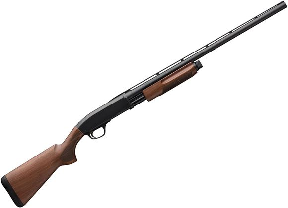 """Picture of Browning BPS Field Pump Action Shotgun - 20ga, 28"""", Matte Blue, Vented Rib, Satin Finish Black Walnut Stock, Silver Bead Front Sight, 4rds, Invector-Plus (F,M,IC)"""