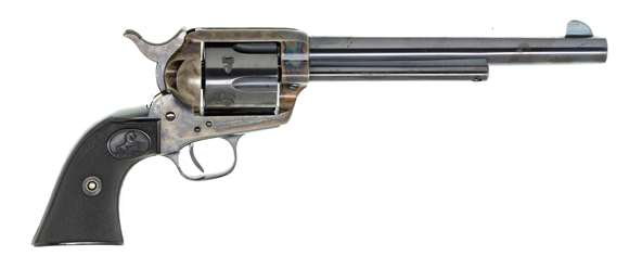 Picture of Used Colt Single Action Army 45 Colt, 7.5'' Barrel, Case Hardened Frame,  1925 Production, Excellent Condition, 95% of Original Blue Remains