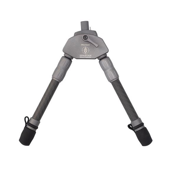 """Picture of Spartan Precision Equipment, Bipods - Javelin ProHunt Bipod, Standard Length, 9.6"""" Ground Clearance, Rubber & Tungsten Carbide Feet, Classic Rifle Adapter Kit Inc., Compatible Spartan 12mm Adapters, Weight: 6.3oz."""
