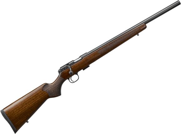 "Picture of CZ 457 Varmint Bolt-Action Rifle - 22 LR, 20"", Heavy Barrel, Cold Hammer Forged, Walnut Target Stock, Adjustable Trigger, 5rds"
