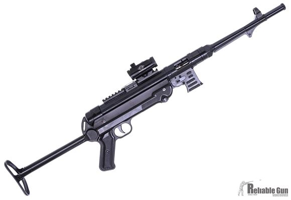 """Picture of Used German Sport Guns (GSG) GSG MP-40 Varmint Combo Rimfire Semi-Auto Rifle - 22 LR, 11.7"""", Blued, Folding Metal Stock,, Fixd Front Post & Adjustable Rear Sights, Basemount Rail, Red Dot, 1 Magazine 23rds, Very Good Condition"""