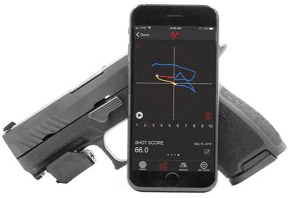 Picture of Mantis X Training Systems - Mantis X3 Electronic Shooting Performance System, Lightweight QD Rail Mount Sensor, USB Charging Cable, Works for Live Fire & Dry Fire, X3 Foam Case