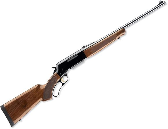"""Picture of Browning BLR Lightweight w/Pistol Grip Lever Action Rifle - 6.5 Creedmoor, 20"""", Sporter Contour, Polished Blued, Polished Black Aluminum Alloy Receiver, Gloss Grade I Black Walnut Stock w/Checkered Pistol Grip & Schnabel Forearm, 4rds, Brass Bead Front &"""