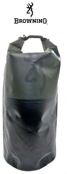 Picture of Browning Gear, Bags, Backpacks - Barren Dry Bag, Medium Size, Forest Green/Black, Heavy Duty Waterproof Bag, Top Roll & Seal