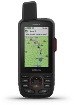 Picture of Garmin, Satellite GPS Communicator - GPSMAP 66i, TOPO Mapping, 2-Way Text & SOS, Birdseye Imagery, Weather, Compatible w/ Garmin Explore App., IPX7 Waterproof, 35hrs Default - 200hrs Expedition Mode, Carabiner & USB Cable Inc.