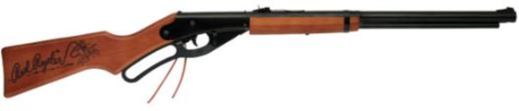 Picture of Daisy 1938 Red Ryder Carbine, 650 Shot Lever Action BB Rifle, Stained Wood Stock w/Red Ryder Logo, 350 FPS, .177 BB