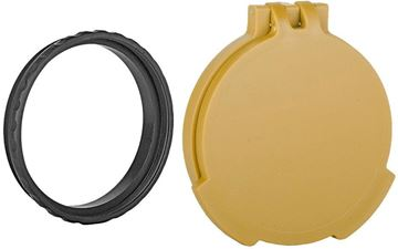 Picture of Tenebraex Tactical Tough Cover - Flip Cover with Adapter Ring, Objective, Ral8000 (FDE), Fits Schmidt Bender PMII 56mm
