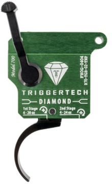 Picture of Trigger Tech, Remington 700 Trigger - Two Stage Diamond Pro Clean Frictionless Trigger, Curved, 6-40 oz, PVD Black, Green Housing, Right Handed, With Safety, No Bolt Release