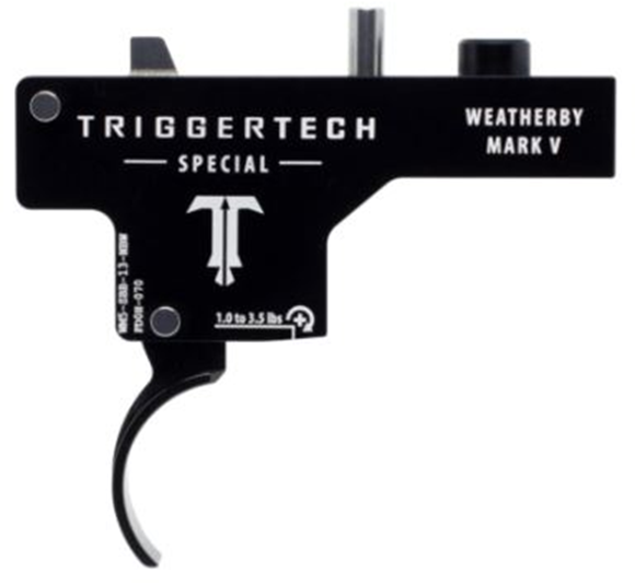 Picture of Trigger Tech, Weatherby Mark V Trigger - Special, Frictionless Trigger, PVD Black Curved, Single Stage Primary, 1-3.5lbs