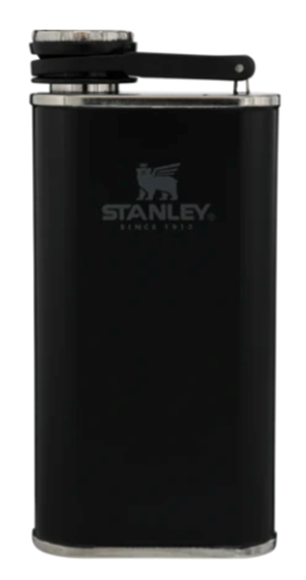 Picture of Stanley Wide Mouth Flask, 8oz Easy Fill,  Black, Reliable Gun Engraved