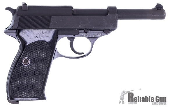 """Picture of Used Walther P1 Semi-Auto Pistol - 9mm, 5"""", Black Plastic Grips, One Mag, Very Good Condition"""