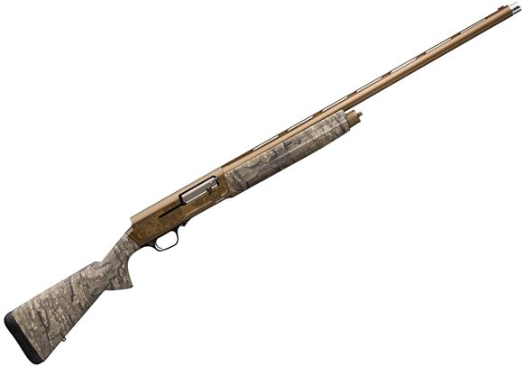 """Picture of Browning A5 Wicked Wing Timber Semi-Auto Shotgun -12Ga, 3-1/2"""", 28"""", Lightweight Profile, Vented Rib, Realtree Timber Camo, Burnt Bronze Cerakote Alloy Receiver, Coating Composite Stock, 4rds, Fiber Optic Front & Ivory Mid Bead, Invector"""