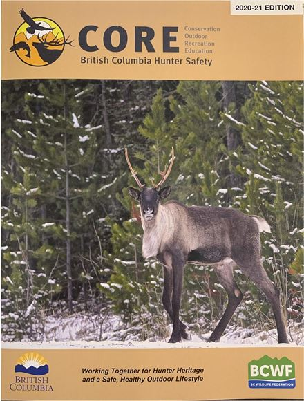 Picture of BCWF CORE Manual - Conservation Outdoor Recreation Education, British Columbia Hunter Safety Book, 2020/21 Edition