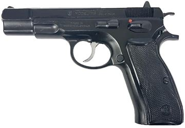 "Picture of CZ 75 Surplus DA/SA Semi-Auto Pistol - 9mm, 4.61"", Hammer Forged, Black Polycoat, Plastic Grips, 10rds, Fixed Sights"