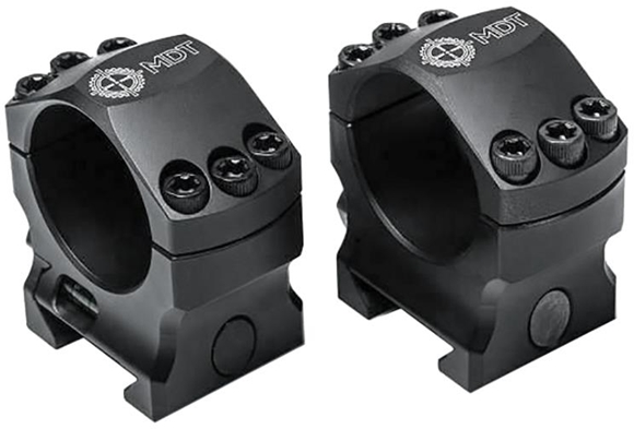 "Picture of Modular Driven Technologies (MDT) - Elite Scope Ring Set, 35mm, High, (1.25"") w/ Bubble Level"