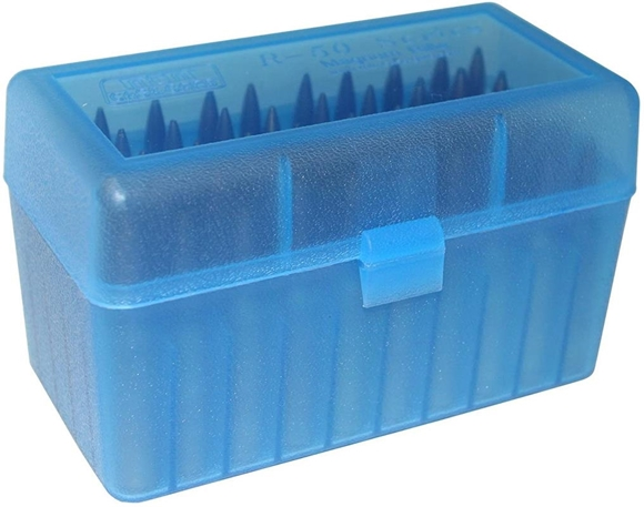 Picture of MTM Case-Gard R-50 Series Rifle Ammo Box - RL-50, 50rds, Blue