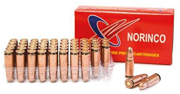 Picture of Norinco Pistol Ammunition - 7.62x25 Tokarev, 85Gr, FMJ, 50rd Box
