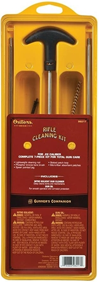 Picture of Outers Cleaning Kits, Aluminum Rod Kits - Universal Cleaning Kit (Clam), 7-Piece 22 Cal Total Cleaning Kit