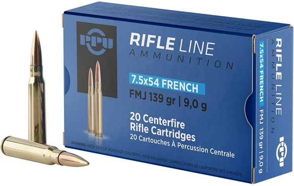 Picture of Prvi Partizan (PPU) Rifle Ammo - 7.5x54mm French, 139Gr, FMJ, 20rds Box