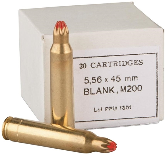 Picture of Prvi Partizan (PPU) Rifle Ammo - 5.56x45mm, Blank, M-200, 20rds