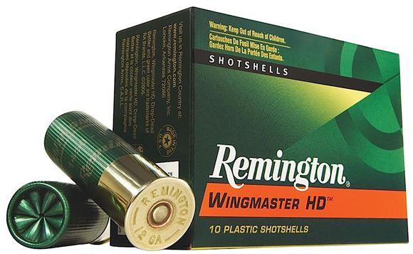 """Picture of Remington Wingmaster HD Shotgun Ammo - 12Ga, 3-1/2"""", 1-3/4oz, #4, 10rds Box, 1300fps"""
