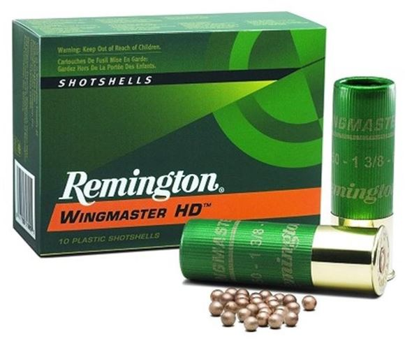"""Picture of Remington Wingmaster HD Shotgun Ammo - 12Ga, 3"""", 1-7/8oz, #4, 5rds Box, 1225fps"""