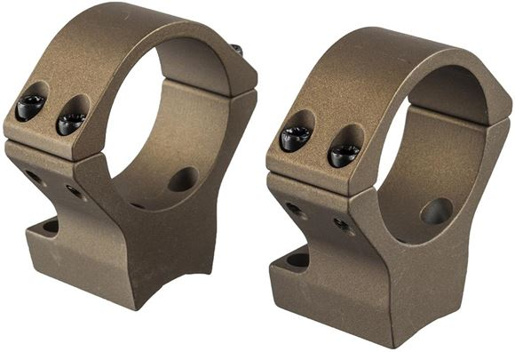 Picture of Talley Tactical Products, One Piece Mount - Rings, 30mm, For Browning X-Bolt Hell's Canyon, Burnt Bronze Cerakote, Low