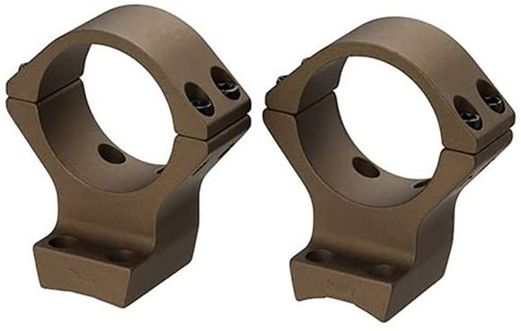 """Picture of Talley Tactical Products, One Piece Mount - Rings, 1"""", For Browning X-Bolt Hell's Canyon, Burnt Bronze Cerakote, Med"""