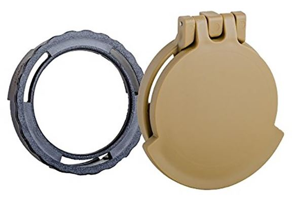 Picture of Tenebraex Tactical Tough Cover - Flip Cover with Adapter Ring, Eye Piece, Ral8000 (FDE), Fits Schmidt Bender 4-16, 3-12 & 5-25