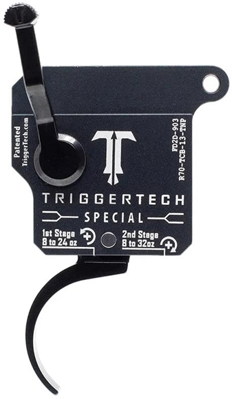 Picture of Trigger Tech, Remington 700 Trigger - Two-Stage Frictionless Trigger, Pro Curved, PVD Coating, 1.0 - 3.5lbs, Right Handed, Safety, Without Bolt Release