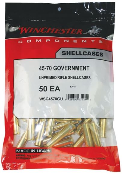 Picture of Winchester Components, Consumer Pack Unprimed Rifle Brass - 45-70 Govt, 50ct Bag