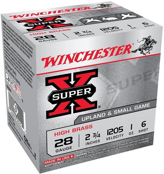 "Picture of Winchester Super-X High Brass Upland/Small Game Shotgun Loads - 28ga, 2 3/4"", 1 oz, #6, 25rds Box"
