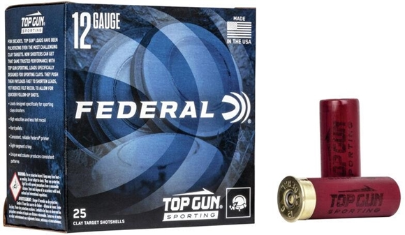 "Picture of Federal Top Gun Target Load Shotgun Ammo - 12Ga, 2-3/4"", 3 DE, 1oz, #8, 1250FPS, 250rds Case"