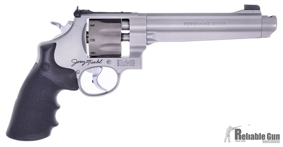 """Picture of Used Smith & Wesson 929 Performance Center """"Jerry Miculek"""" Revolver, 9mm Luger, 7'' Ported Barrel,  Good Condition"""