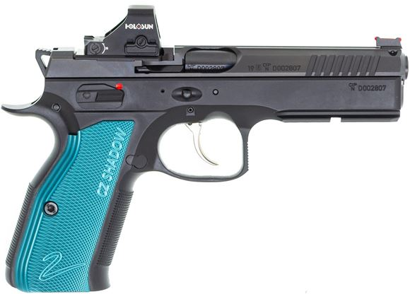 Picture of CZ Shadow 2 Optic Ready Pistol Package - CZ Shadow 2 OR, Holosun 407K 6MOA Red Dot, Mounting Plate